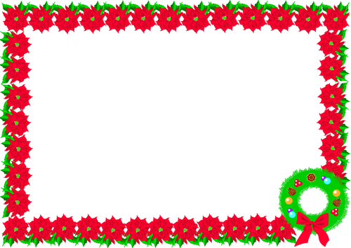 Christmas day themed lined paper and pageborders by for Christmas landscape images