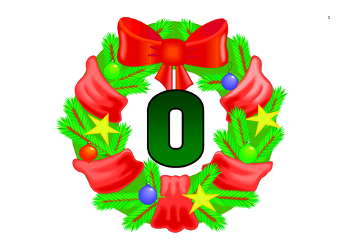 Mistletoe Themed Numbers 0-100 and in Words