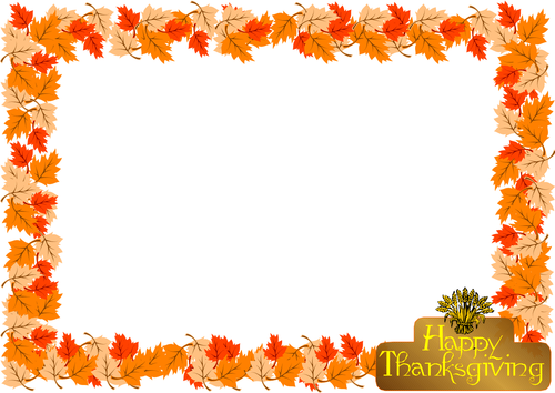 Thanksgiving Day Themed Lined Paper and Pageborder