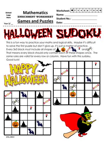 Halloween Themed Sudoku (6x6)
