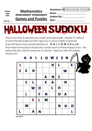 Halloween Themed Sudoku (9x9)