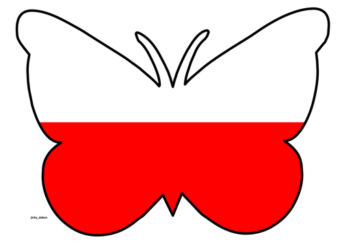 Butterfly Themed Poland Flag