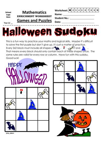 Halloween Themed Sudoku (4x4)