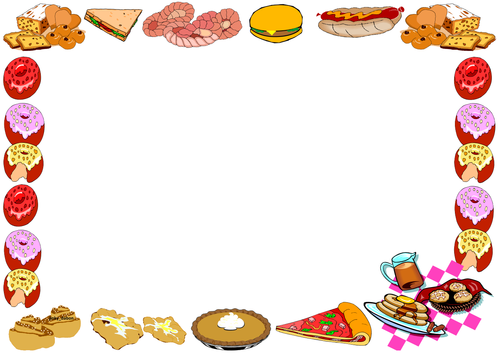 Bread Themed Lined Paper and Pageborders