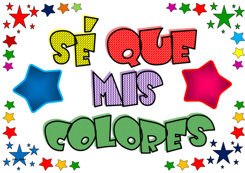 Stars Themed Colors in Spanish