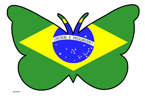 Butterfly Themed Brazilian Flag