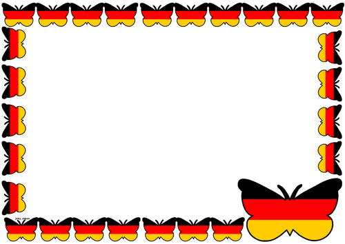 German Flag Themed Lined Paper and Pageborders