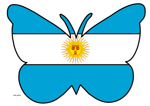 Butterfly Themed Argentina Flag