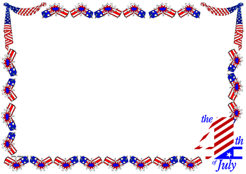 Independence DayThemed Lined paper and Pageborders