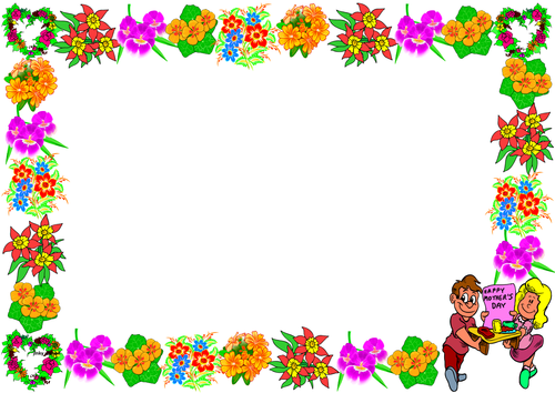 'Mother's Day' Themed Lined Paper and Pageborders