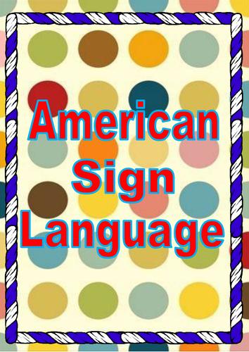 American Sign Language Flashcards
