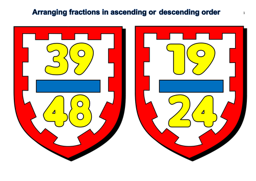 Grade 5-Ordering Fractions Flashcards