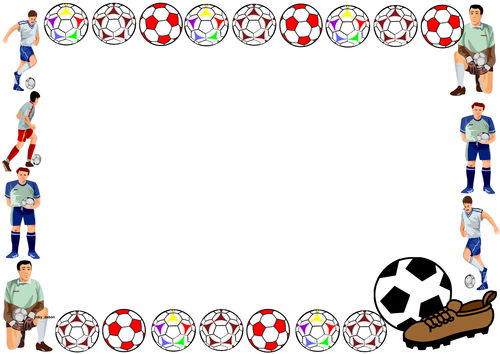 Soccer Themed Lined Paper and Pageborders