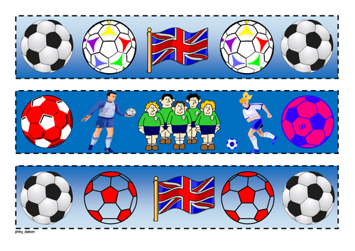 Soccer Themed Cut-out borders