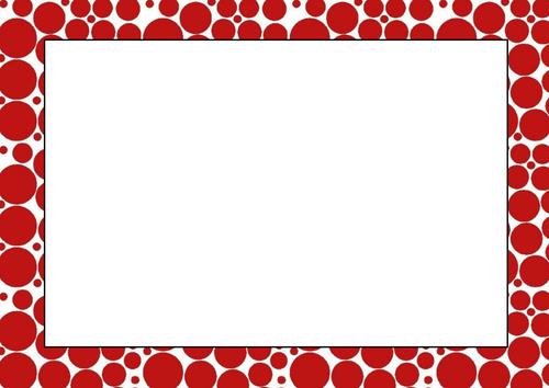 Pentagon, Percentage, Red Circles Printer Paper