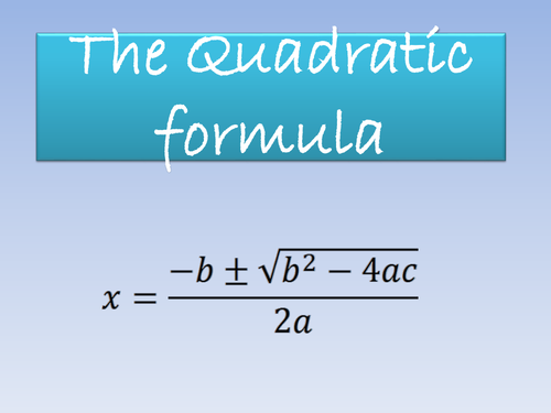 The Quadratic Formula PowerPoint by bcooper87   Teaching