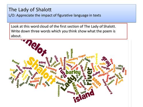 The Lady of Shalott (Figurative Language)