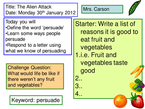 Persuade the Aliens/Model Verbs