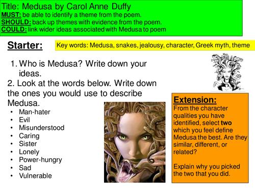 Medusa Poem by Carol Anne Duffy