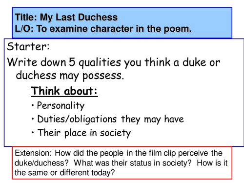 Introduction to My Last Duchess by Robert Browning