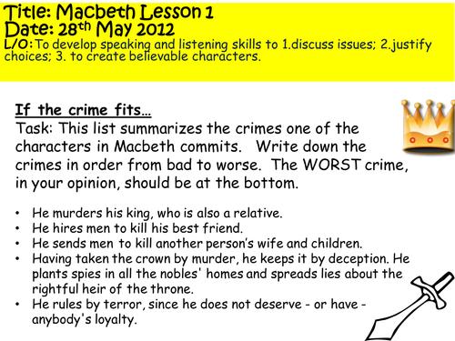 Macbeth lesson 1