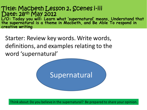 Macbeth lesson 2