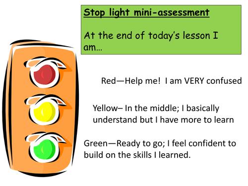 Traffic Light assessment