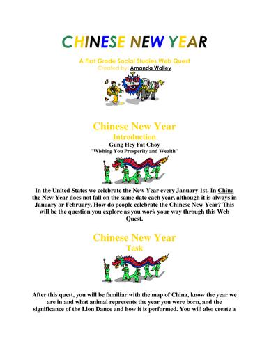 Chinese New Year Webquest