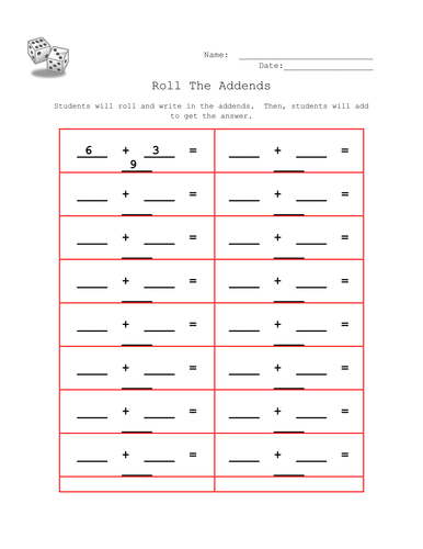 Roll the Addends