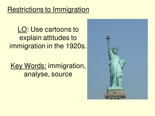 Immigration to the USA 1920s