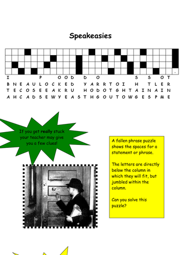 Speakeasy Puzzle