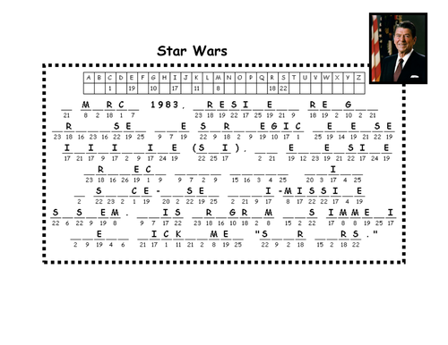 Reagan and Star Wars - Codebreaker