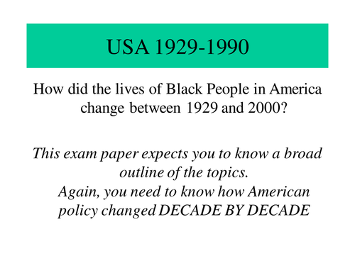Black Americans 1930s and 1940s