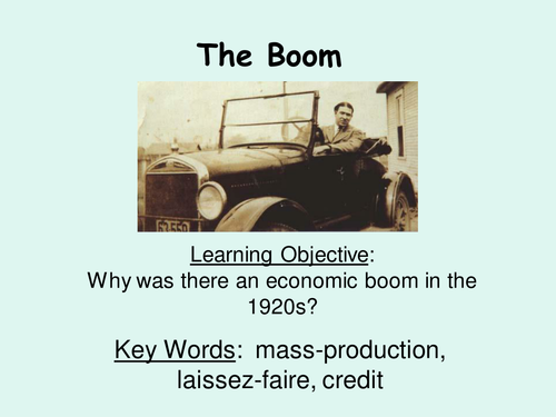 American Economy - Causes of the Boom