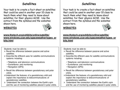 Satellites task