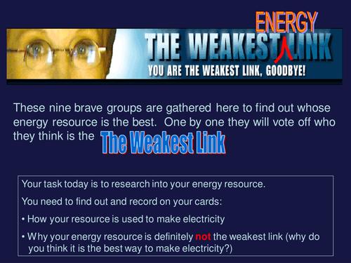 The weakest energy resource