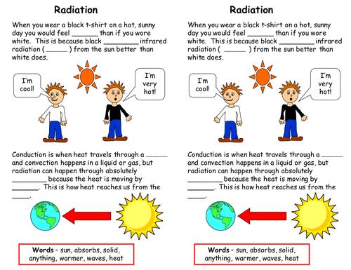 Radiation worksheet