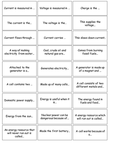 Electricity dominoes game