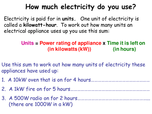 Calculating units
