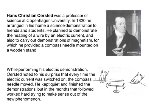 Oersted's experiments