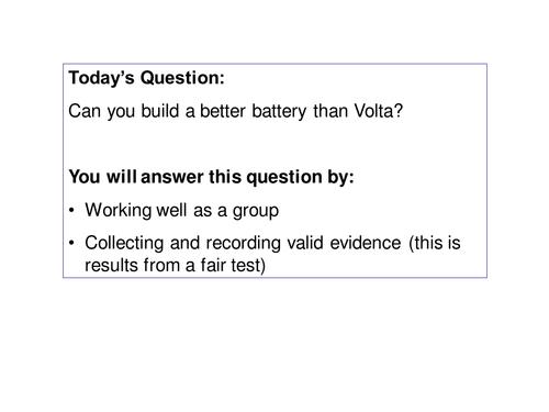 Volta enquiry lesson