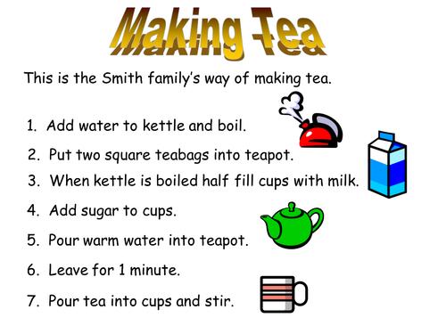 Making tea thinking exercise