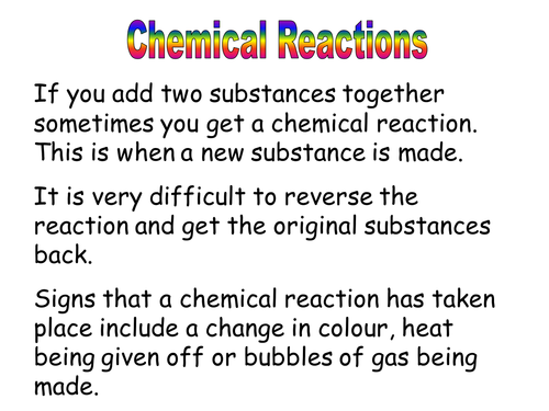 Is it a chemical reaction?