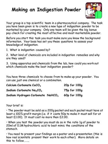 Indigestion powder enquiry lesson