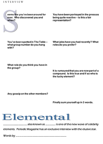 Element interview