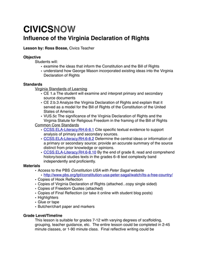 Mapping the Virginia Declaration of Rights