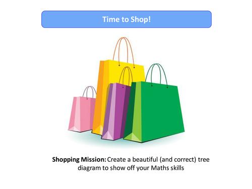 Probability Tree Diagrams - Clothes Shopping