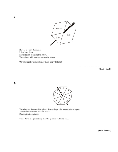 Probability review Test