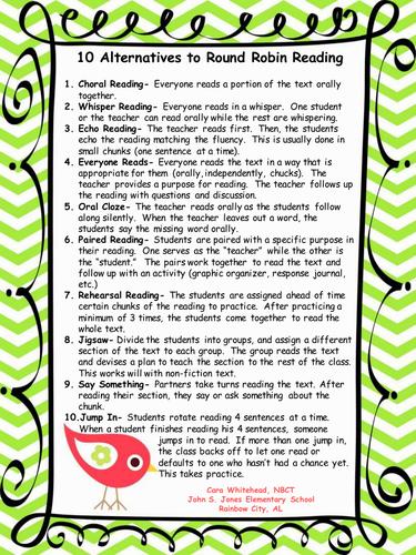 Alternatives to Round Robin Reading