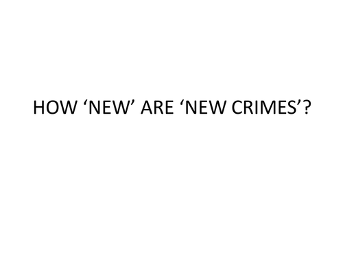 How new are new crimes?
